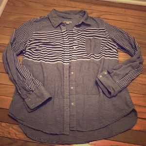 Button up stripped shirt